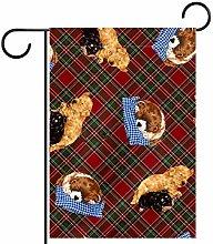 MEITD Bandiera da giardino a forma di cane