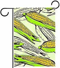 MEITD - Bandiera da giardino a forma di mais,
