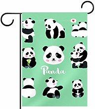 MEITD - Bandiera da giardino a forma di panda con