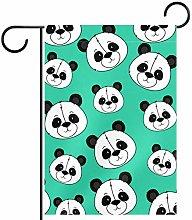 MEITD - Bandiera da giardino a forma di panda2,