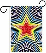 MEITD Bandiera da giardino a forma di stelle