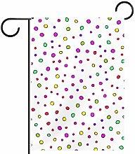 MEITD - Bandiera da giardino a pois multicolore su