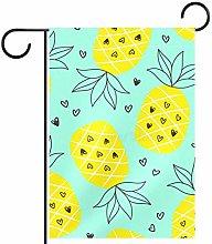 MEITD Bandiera da giardino con ananas su entrambi