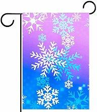 MEITD Bandiera da giardino con fiocco di neve,