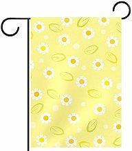 MEITD - Bandiera da giardino con fiori su entrambi