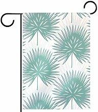 MEITD - Bandiera da giardino con foglie su