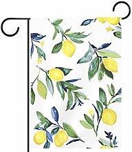 MEITD - Bandiera da giardino con limone su