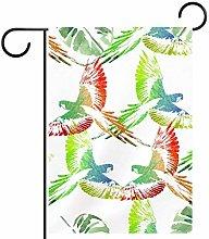 MEITD - Bandiera da giardino con pappagalli,