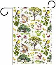 MEITD Bandiera da giardino con uccellini e