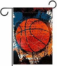 MEITD Bandiera vintage da basket da giardino, su