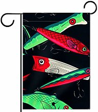Meitd, esche da pesca, bandiera da giardino, 30,5