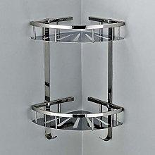 Mensola angolare per doccia in acciaio