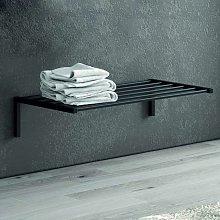 Mensola bagno colore nero in acciaio inox 65cm