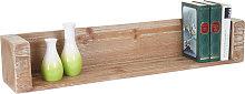 Mensola libreria scaffale HWC-A15 legno massello