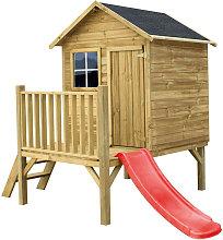 MERIDA - casetta in legno per bambini con scivolo