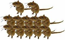 MERIGLARE 12pcs Mouse Statua di Animali Patio