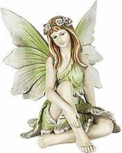 MERIGLARE Fata Seduta Scultura Statua Mitica