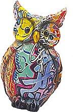 MERIGLARE Gufo Statua Figurina Mensola Scultura