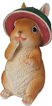 MERIGLARE Resina Giardino Coniglio Statua