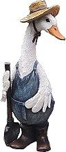MERIGLARE Statuetta in Resina di Anatra, Ornamento