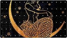 Mermaid Outline - Tappeto da bagno antiscivolo per
