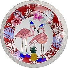Merry Christmas Hat Flamingo Palm (4 pezzi)