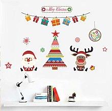 Merry Christmas Tree Adesivi murali cervi di Babbo