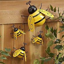 Metal Bumble Bee Decorations, Garden Wall Art Bee
