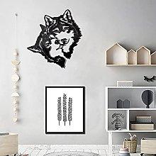 Metal Wall Art - 2 decorazioni Wolf Head - 3D Wall