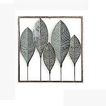 Metallo 3D Arte Scultura Pianta verde Appeso