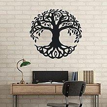 Metallo albero della vita appeso a parete, albero