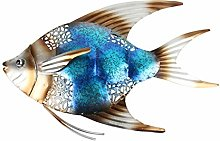 Metallo Fish Wall Decor for Giardino Ornamenti