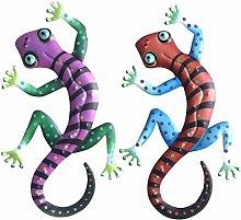 Metallo Gecko Decorazione di Arteee Parete,Statue