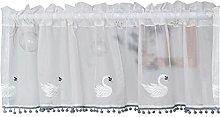 Mezza tenda,Tende per bianco ricamato, per