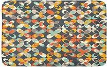 Midseury Geometrico Retrò Vintage Marrone Arancio