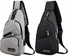 Milageto 2Pack Fashion Mens Sling Bag Porta di