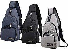 Milageto 3Pack Fashion Mens Sling Bag Porta di