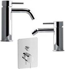 Milano Torino kit miscelatore lavabo bidet doccia