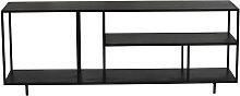Miliboo - Mobile TV design metallo nero KARL