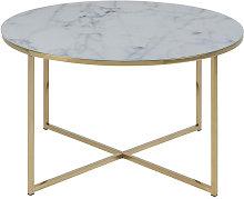 Miliboo - tavolino basso effetto marmo e piedi in
