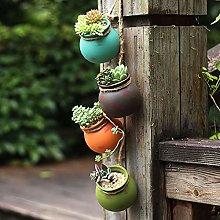 Mini Appeso Vasi Succulenti,Colorato Ceramica