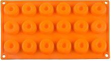 Mini ciambella in silicone, 18 cavità ciambella