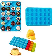 Mini Muffin Puncakes Biscuit Pans 24 Cupcakes