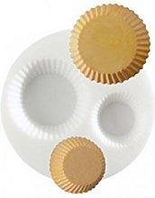 Mini stampo in silicone per cupcake.