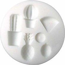 Mini stampo in silicone per pasta FIMO - Esotico