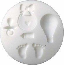 Mini stampo in silicone per pasta FIMO - Nascita