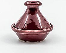 Mini tajine Uni rosso granato – D 9 cm