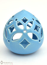 MIRTO - Porta candela bomboniera ceramica