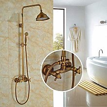 Miscelatore doccia in bronzo spazzolato con getto