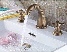Miscelatore doppio in ottone per lavabo da bagno,